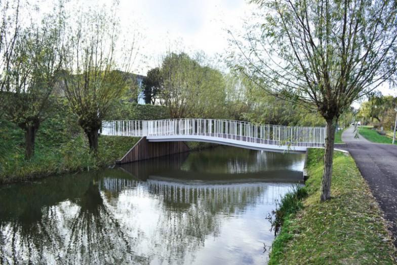 Lely fietsbrug Weverskade Maassluis