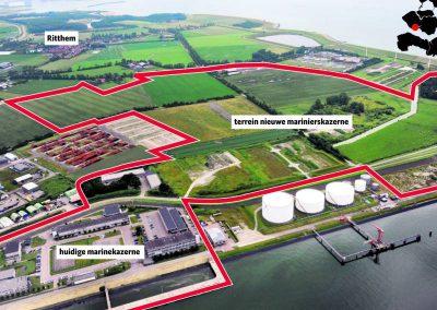 Projectgebied nieuwe Marinierskazerne in Vlissingen